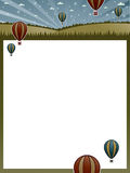 Hot air balloon poster Royalty Free Stock Photos
