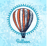 Hot air balloon poster sketch Stock Photo