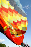 Hot air balloon preparing  Royalty Free Stock Images