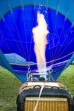 Hot Air Balloon Preparing to Fly Stock Photo