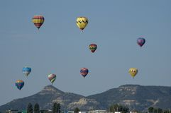 Hot Air Balloon Race Royalty Free Stock Photo