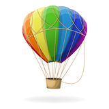 Hot air balloon in rainbow colors . Royalty Free Stock Photo