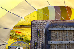 Hot Air Balloon Ready to Rise Stock Images