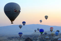 Hot Air Balloon Ride, Cappadocia Stock Photo