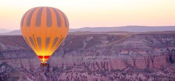 Hot Air Balloon. Rising in Cappadochia Turkey Stock Image