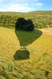 Hot air balloon's shadow Royalty Free Stock Photography