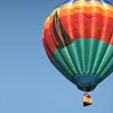 Hot Air Balloon Sailing In Sky Stock Photo