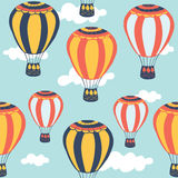 Hot air balloon seamless pattern. Stock Images