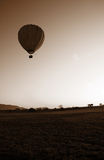 Hot Air Balloon sepia Stock Photo