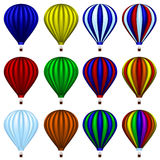 Hot air balloon set stock image