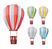 Hot air balloon set Royalty Free Stock Image