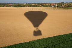 Hot air balloon shadow Royalty Free Stock Images