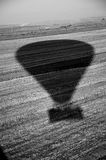 Hot air balloon shadow Royalty Free Stock Photos