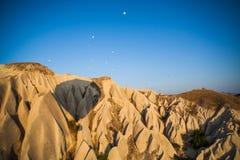 Hot air balloon shadow in Cappadocia Royalty Free Stock Photos