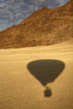Hot air balloon shadow - Namibia. The shadow of a hot air balloon in the Namib Desert near Sossusvlei in Namibia Stock Images