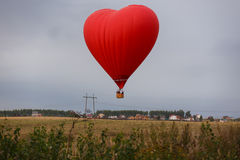 Hot air balloon in the shape of a heart Stock Image