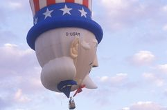 A hot air balloon shaped like Uncle Sam at the Albuquerque International Balloon Fiesta, Albuquerque, New Mexico Royalty Free Stock Photography