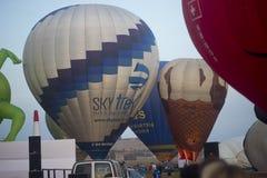 Hot air balloon show in Harod Spring Royalty Free Stock Photos