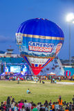 Hot air Balloon show at night. In the stadium of Songkla, Thailand Stock Image
