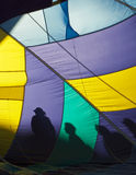 Hot Air Balloon Silhouettes Stock Photography