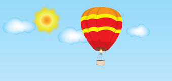 Hot air balloon in sky Royalty Free Stock Photography