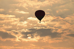 Hot air balloon. In the sky Stock Photography