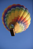 Hot Air Balloon in sky from below multi-colored Royalty Free Stock Images