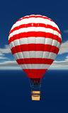 Hot air balloon in the sky with clouds Stock Photo