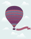 Hot air balloon in the sky. Royalty Free Stock Photos