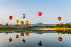 Hot air balloon  on sky Stock Photo