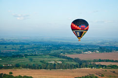 Hot-air balloon in the sky Stock Images