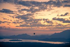 Hot air balloon in the sky Stock Image