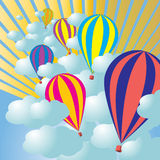 Hot air balloon in the sky Royalty Free Stock Images