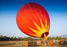 Hot air balloon on sky in Laos Royalty Free Stock Image