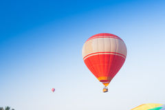 Hot air balloon on sky in Laos Royalty Free Stock Photos