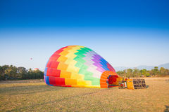 Hot air balloon on sky in Laos Stock Images