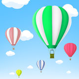 Hot air balloon in the sky. Stock . Royalty Free Stock Photos
