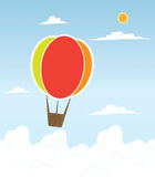 Hot air balloon in the sky Stock Photos