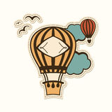 Hot air balloon in the sky Stock Photography