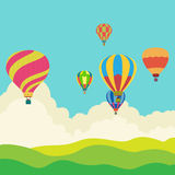 Hot air balloon in the sky Royalty Free Stock Photos