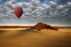 Hot Air Balloon - Sossusvlei - Namibia. Aerial view from a Hot Air Balloon in the Sossusvlei area of the Namib-Naukluft Desert in Namibia Royalty Free Stock Images
