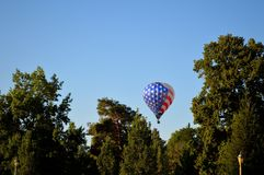 Hot air balloon. The Spirit of Boise Balloon Classic, Labor Day Weekend, first weekend in September. 2017, Ann Morrison Park, Boise, Idaho is an annual event Royalty Free Stock Image