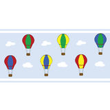 Hot air balloon striped wallpaper Royalty Free Stock Photo