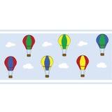 Hot air balloon striped wallpaper Royalty Free Stock Photo