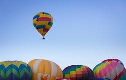 Hot Air Balloon on Summer Day Stock Photo