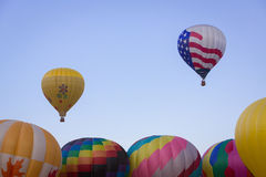 Hot Air Balloon on Summer Day Stock Images
