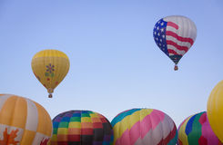 Hot Air Balloon on Summer Day Stock Photography