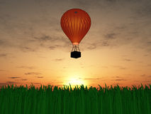 Hot air balloon sunset Stock Photos