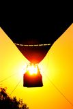 Hot air balloon at sunset. Flying on a hot air balloon at sunset Royalty Free Stock Images