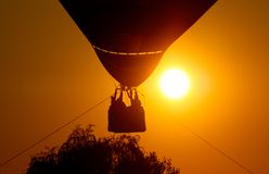 Hot air balloon at sunset Royalty Free Stock Photo
